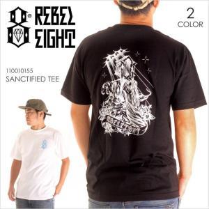 Tシャツ メンズ REBEL8 SANCTIFIED TEE - 110010155 レベルエイト レベル8 プリント バックプリント 2017 17|3direct