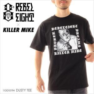 Tシャツ メンズ REBEL8 x KILLER MIKE DUSTY TEE - 110010194 レベルエイト レベル8 ロゴ プリント ストリート スケート|3direct