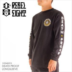 ロンT メンズ REBEL8 DEATH PROOF LONGSLEEVE - 110040013 レベルエイト レベル8 Tシャツ プリント 2017 17|3direct