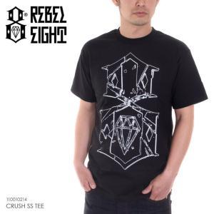 REBEL8 Tシャツ メンズ CRUSH S/S TEE 110010214 2018春 ブラック M/L|3direct