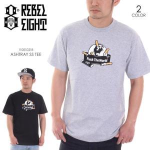 REBEL8 Tシャツ メンズ ASHTRAY S/S TEE 110010218 2018春 ブラック/グレー M/L|3direct