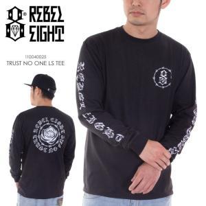 REBEL8 Tシャツ ロンT メンズ TRUST NO ONE L/S TEE 110040025 2018年春 ブラック M/L|3direct