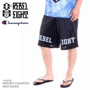 REBEL8 ハーフパンツ メンズ INTEGRITY CHAMPION MESH SHORTS 114060005 2018夏 ブラック M/L|3direct