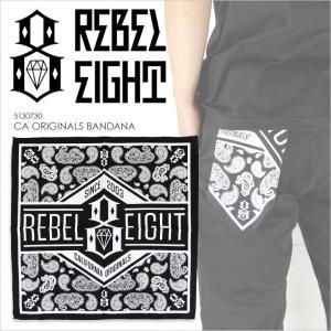 REBEL8 レベルエイト バンダナ CALIFORNIA ORIGINALS BANDANA [ 5130730 ] / メンズ 定番 ベーシック ペイズリー ロゴ ブラック 黒 西海岸 レベル8|3direct