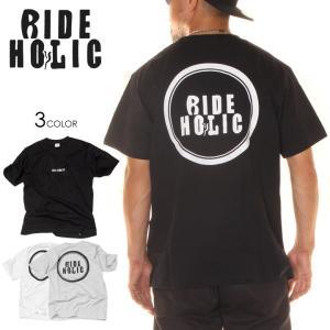 RIDE HOLIC ライド ホリック Tシャツ メンズ LOGO TEE UNITED ATHLE|3direct