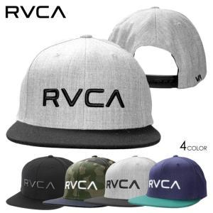RVCA ルーカ キャップ メンズ TWILL SNAPBACK II 2018秋冬 AI041-908 ブラック/グレー/インディゴ ワンサイズ|3direct