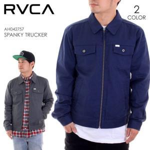 ワークジャケット メンズ RVCA SPANKY TRUCKER - AH042-757 ルーカ ルカ アウター ジャケット トラッカージャケット|3direct
