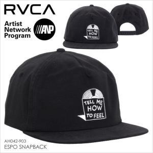 RVCA キャップ メンズ ESPO SNAPBACK AH042-903 AH042903 2017秋冬 ブラック/黒|3direct