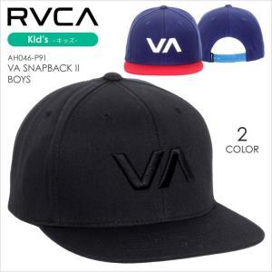 RVCA キャップ キッズ VA SNAPBACK II BOYS AH046-P91 AH046P91 2017秋冬 ブラック/ネイビー|3direct