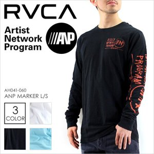ロンT メンズ RVCA ANP MARKER L/S - AH041-060 - AH041060 ルーカ ANP ロングスリーブ クルーネック プリント イラスト サーフ スケート ストリート 長袖 春 新|3direct