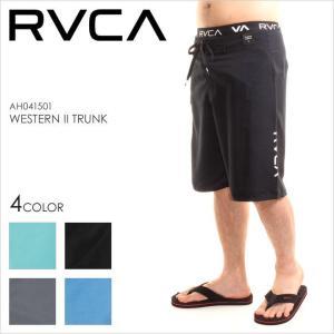 サーフパンツ メンズ RVCA WESTERN II TRUNK - AH041-501 - AH041501 ルーカ ロゴ シンプル ブラック グレー ブルー サーフ スケート ストリート 大きいサイズ|3direct