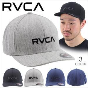 キャップ メンズ RVCA FLEX FIT - AH041-905 - AH041905 ルーカ フレックスフィット サーフ スケート ストリート ロゴ シンプル ブラック ネイビー グレー 帽子|3direct