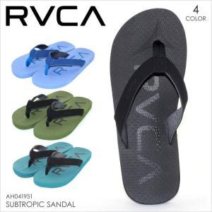 サンダル メンズ RVCA SUBTROPIC SANDAL - AH041-951 - AH041951 ルーカ ビーチサンダル ロゴ プリント シンプル サーフ スケート ストリート 大きいサイズ おし|3direct