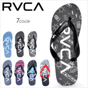 サンダル メンズ RVCA TRENCH TOWN SANDAL - AH041-952 - AH041952 ルーカ ビーチサンダル ロゴ イラスト プリント 柄 サーフ スケート ストリート 大きいサイズ|3direct