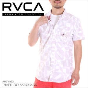 シャツ 半袖 メンズ RVCA THAT'LL DO BARRY 2 S/S - AH041-132 - AH041132 ルーカ BARRY MCGEE バリー マッギー ANP VA SHIRT サーフ 春夏 新作 17 2017|3direct