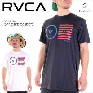 ラッシュガード 半袖 メンズ RVCA OPPOSITE OBJECTS - AH041-859 - AH041859 RVCA ルーカ ルカ サーフTシャツ Tシャツ ロゴ 水着 17 2017 夏 新作 3direct