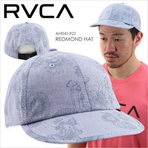 キャップ メンズ RVCA SAGE CLIPBACK - AH041-923 - AH041923 ルーカ サーフ スケート ストリート ロゴ シンプル ボタニカル 柄 シャンブレー ブルー 浅め 帽子|3direct