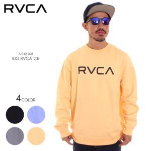 RVCA ルーカ トレーナー メンズ BIG RVCA CR AI042-001 2018秋冬 ブラック/グレー/ブルー/イエロー S/M/L|3direct
