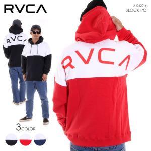 RVCA ルーカ メンズ パーカー BLOCK PO AI042016 AI042-016 2018秋冬 ブラック/レッド/ネイビー S/M/L|3direct