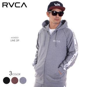 RVCA ルーカ パーカー メンズ LINE ZIP AI042-021 AI042021 2018秋冬 ブラック/グレー/ブラウン S/M/L|3direct