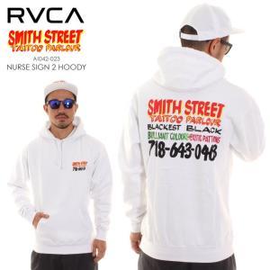RVCA ルーカ ルカ パーカー メンズ SMITH STREET NURSE SIGN 2 HOODIE AI042023|3direct