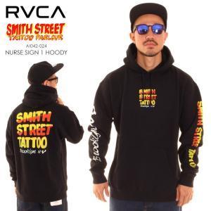 RVCA ルーカ ルカ パーカー メンズ SMITH STREET NURSE SIGN 1 HOODIE AI042024|3direct