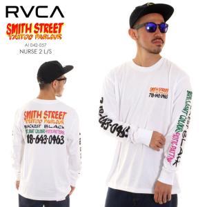 RVCA ルーカ ルカ Tシャツ ロンT メンズ SMITH STREET NURSE 2 LONG SLEEVE T-SHIRT AI042057 AI042-057|3direct