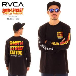 RVCA ルーカ ルカ Tシャツ ロンT メンズ SMITH STREET NURSE 1 LONG SLEEVE T-SHIRT AI042058 AI042-058|3direct