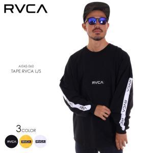 RVCA ルーカ ロンT メンズ TAPE RVCA LS AI042-060 2018秋冬 ブラック/ホワイト/オレンジ S/M/L|3direct