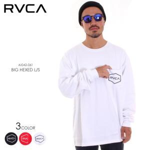 RVCA ルーカ ロンT メンズ BIG HEXED LS AI042-061 2018秋冬 ブラック/ホワイト/レッド S/M/L|3direct