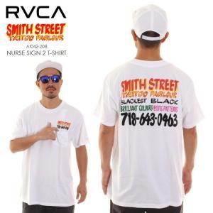 RVCA ルーカ ルカ Tシャツ メンズ SMITH STREET NURSE SIGN 2 T-SHIRT AI042208 AI042-208|3direct