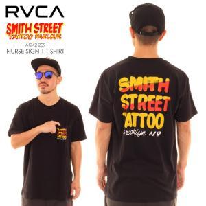 RVCA ルーカ ルカ Tシャツ メンズ SMITH STREET NURSE SIGN 1 T-SHIRT AI042209 AI042-209|3direct