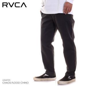 RVCA ルーカ パンツ メンズ CHAOS FLOOD CHINO AI042-723 AI042723 2018秋冬 ブラック 28/30/32|3direct