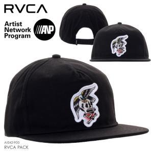 RVCA ルーカ キャップ メンズ RVCA PACK AI042-900 2018秋冬 ブラック ワンサイズ|3direct