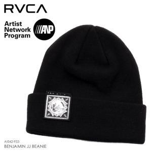 RVCA ルーカ ビーニー メンズ BENJAMIN JJ BEANIE AI042-933 2018秋冬 ブラック ワンサイズ|3direct