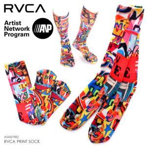 RVCA ルーカ 靴下 メンズ RVCA PRINT SOCK AI042-982 2018秋冬 マルチ ワンサイズ|3direct