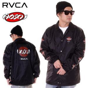 RVCA ルーカ コーチジャケット メンズ HOSOI COACH JACKET AJ041-754|3direct
