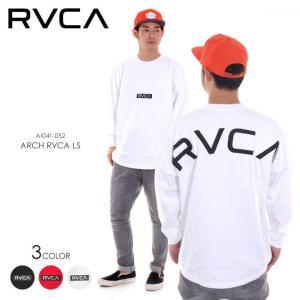 RVCA ロンT メンズ ARCH RVCA L/S AI041-052 2018春 ブラック/ホワイト/レッド XS/S/M/L|3direct