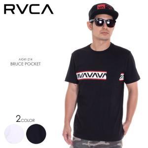 RVCA Tシャツ メンズ BRUCE POCKET AI041-214 2018春夏 ブラック/ホワイト S/M/L|3direct