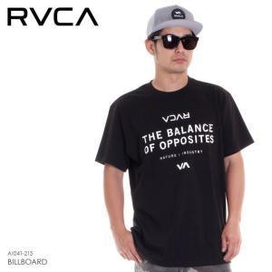 RVCA Tシャツ メンズ BILLBOARD AI041-215 2018春夏 ブラック S/M/L|3direct
