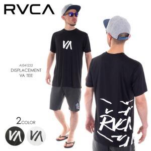RVCA ラッシュガード メンズ DISPLACEMENT VA TEE AI041-222 2018春 ブラック/ホワイト S/M/L/XL|3direct