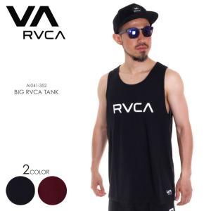 RVCA タンクトップ メンズ BIG RVCA TANK AI041-352 2018春夏 ブラック/レッド S/M/L|3direct