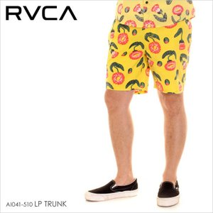RVCA サーフパンツ メンズ LP TRUNK AI041510 AI041-510 2018年春夏 イエロー XS/S/M|3direct