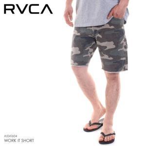 RVCA ハーフパンツ メンズ WORK IT SHORT  AI041-604 2018春 グリーン 28/30/32|3direct