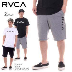 RVCA ショーツ メンズ RVCA SWEAT SHORTS AI041-609 2018春 グレー/ブラック S/M/L/XL|3direct
