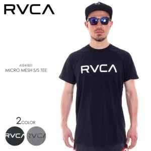 RVCA ラッシュガード メンズ MICRO MESH SS TEE AI041-851 2018春 ブラック/グレー S/M/L/XL 3direct