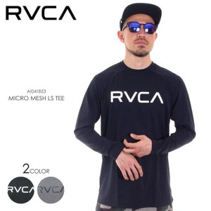 RVCA ラッシュガード メンズ MICRO MESH LS TEE AI041-853 2018春 ブラック/グレー S/M/L/XL 3direct