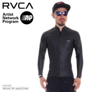 RVCA タッパー メンズ FRONT ZIP SMOOTHIE AI041-870 2018春夏 ブラック S/M/L|3direct