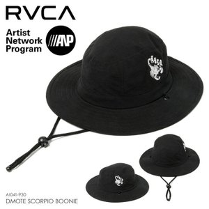 RVCA ハット メンズ DMOTE SCORPIO BOONIE AI041-930 2018春 ブラック ワンサイズ|3direct