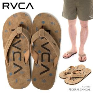 RVCA ビーチサンダル メンズ FEDERAL SANDAL AI041-955 2018春 ブラウン 25cm/26cm/27cm/28cm|3direct